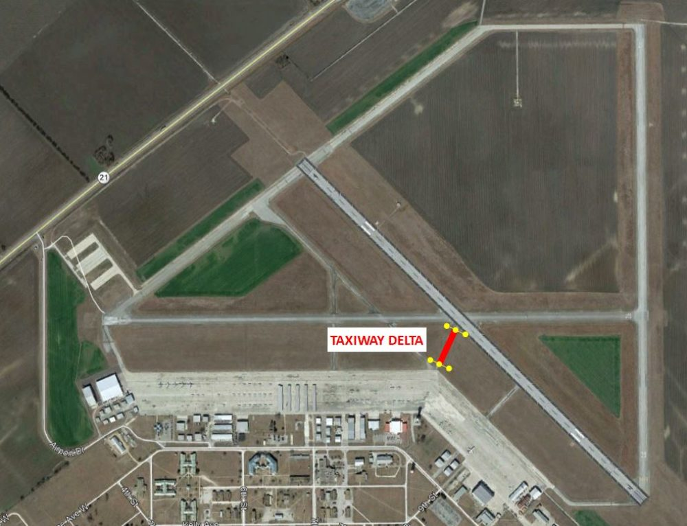 Taxiway Delta Permanently Closed
